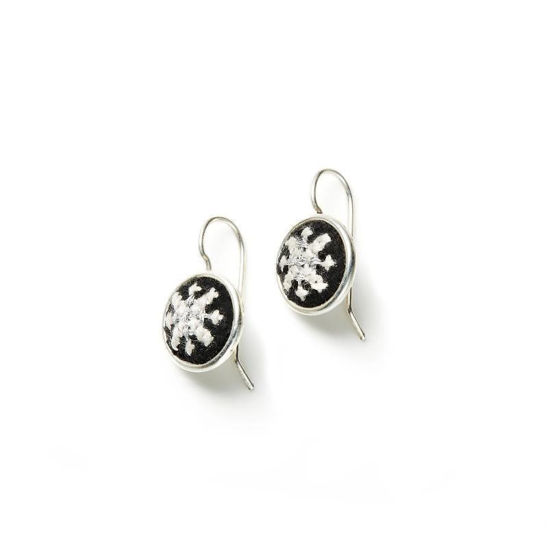 Silver-Plated GLOW Arabesque Dainty Earrings