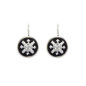 GLOW Arabesque Silver-Plated Dainty Earrings