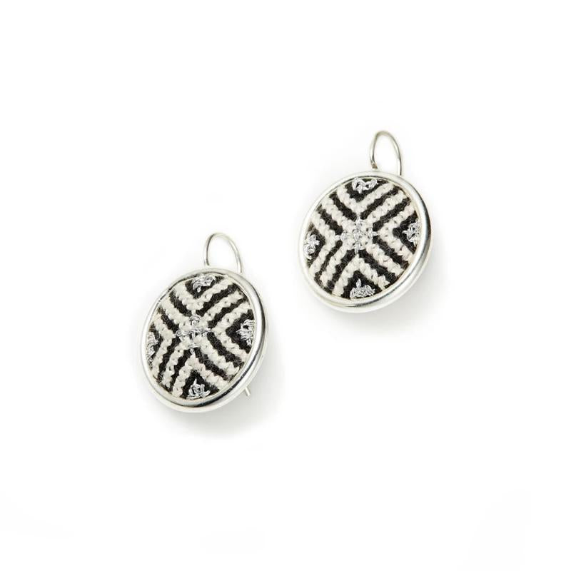 Silver-Plated GLOW Arabesque Statement Earrings