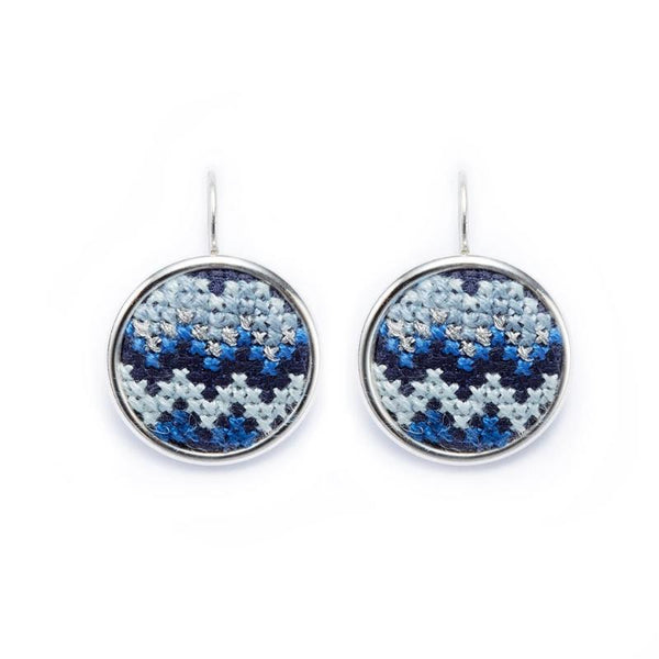 Silver-Plated GLOW Nuusum Statement Earrings
