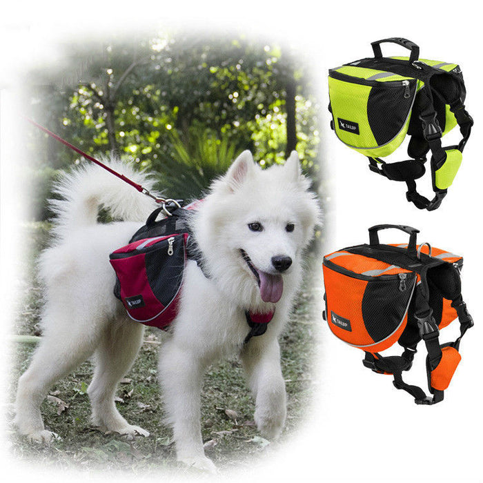 Outward Dog Backpack Travel Hiking Saddle Bag - Naughty Bubbles