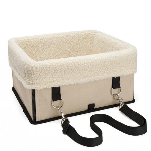 Pet Car Seat Carriers Folding Travel Booster Fleece Dog Basket - Naughty Bubbles
