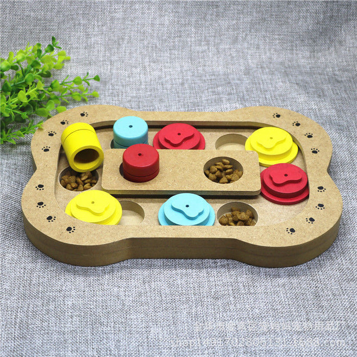Pet IQ Training Toys Game Plate - Naughty Bubbles