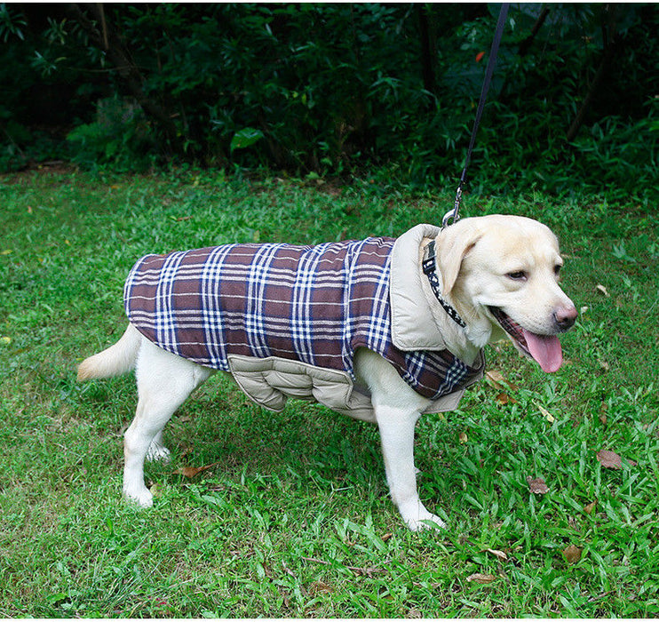 Large Dog Coat Winter Warm Waterproof Reversible Jacket - Naughty Bubbles