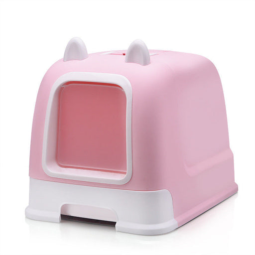 Hooded Cat Litter Box Easy Assembly - Naughty Bubbles