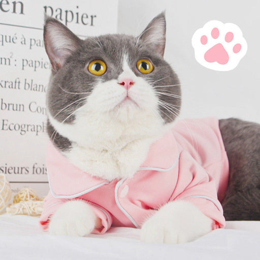 Cat Pajamas Kitten Cotton Sleepwear Home Apparel - Naughty Bubbles