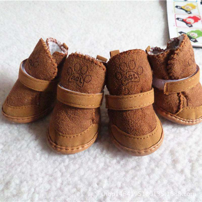 Fleece Lining Pet Dog Shoes Snow Boots - Naughty Bubbles
