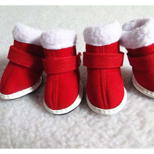 Christmas dog shoes puppy boots - Naughty Bubbles