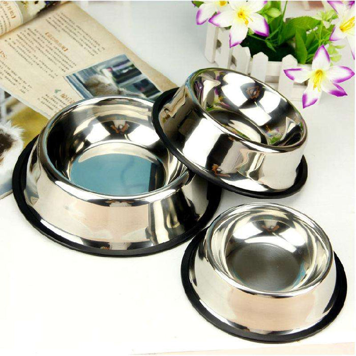 Stainless steel pet feeding bowl - Naughty Bubbles