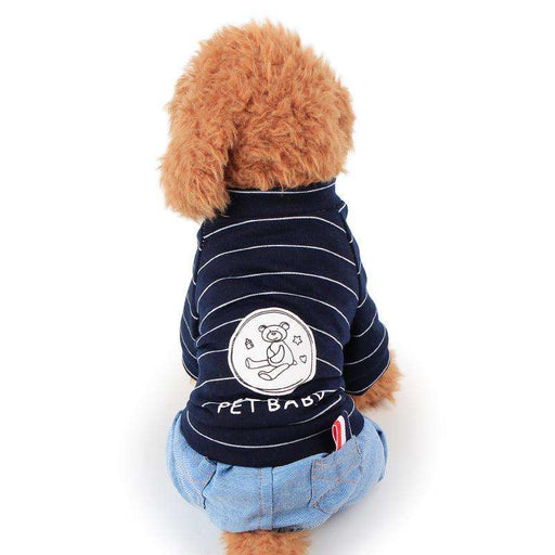 Stripe Bear Four Legs dog Sweater - Naughty Bubbles