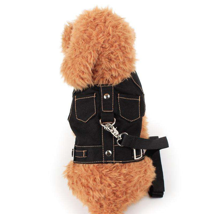 Cowboy Double Pockets Pet Dog Harness - Naughty Bubbles