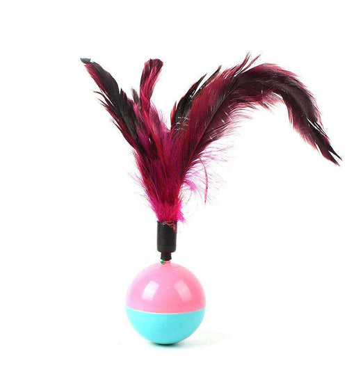 Cat Feather Down Ball Tumbler Feather Toy - Naughty Bubbles