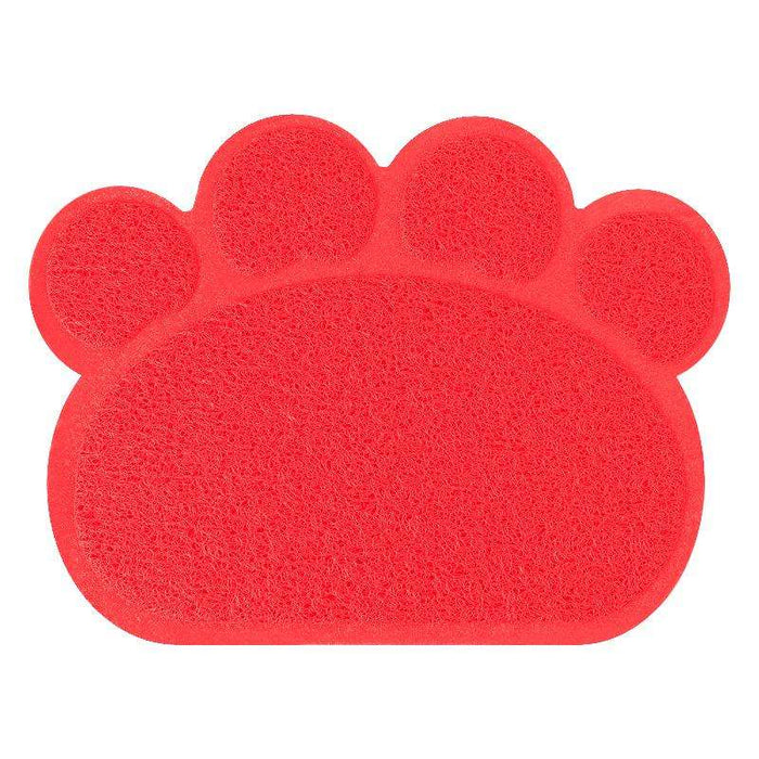 PVC paw print pet placemat cat litter mat foot pad - Naughty Bubbles