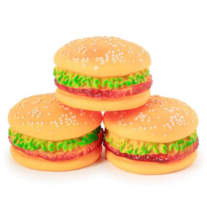 Sound with Hamburger Toy Dog Bite Toy - Naughty Bubbles