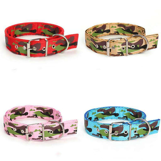 Nylon double-sided camouflage dog collar - Naughty Bubbles