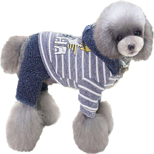 Four Legs Plush dog Hoodie - Naughty Bubbles