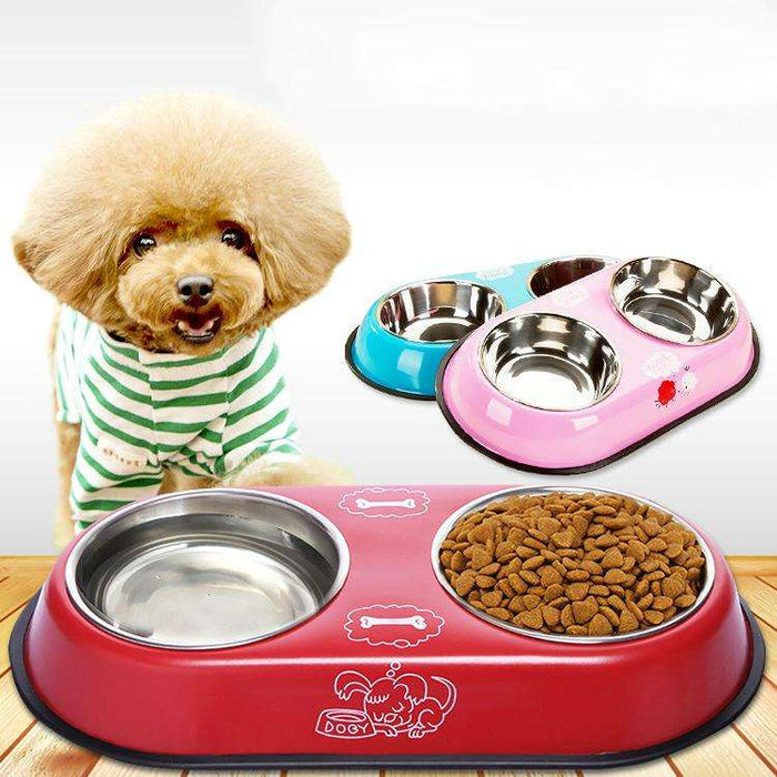 stainless steel dog bowl food water bowl naughty bubbles
