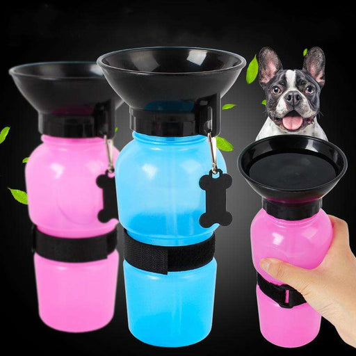 Extruded portable pet drinking fountains 500ml - Naughty Bubbles
