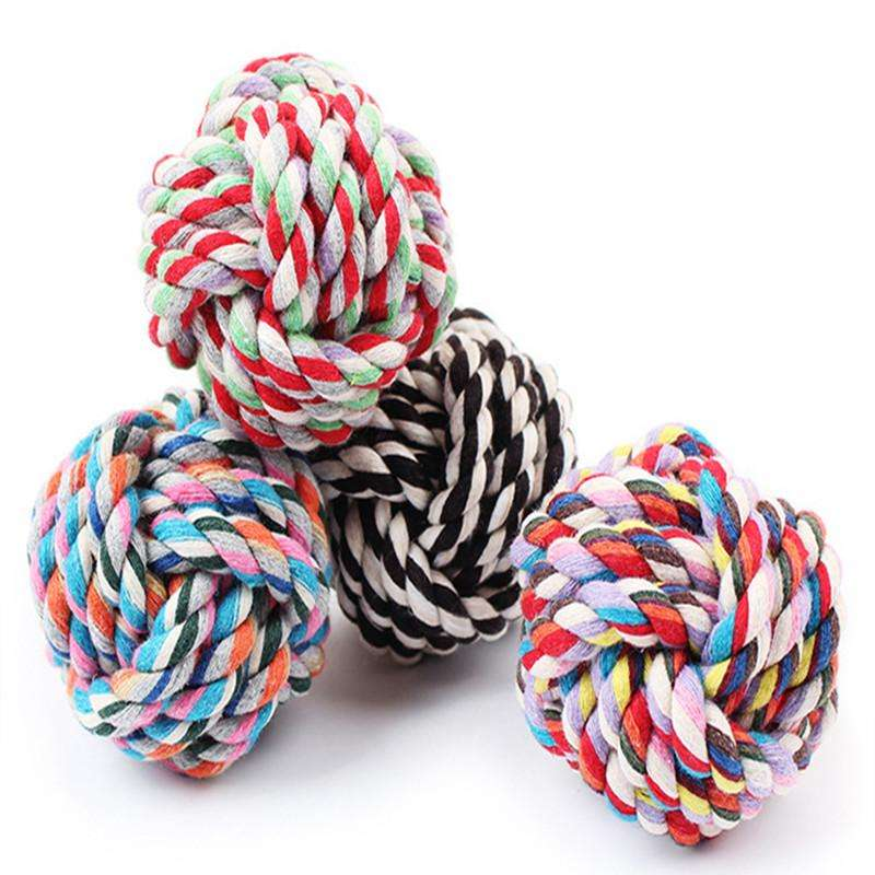 Colorful Cotton Rope Section Ball Dog Toy - Naughty Bubbles