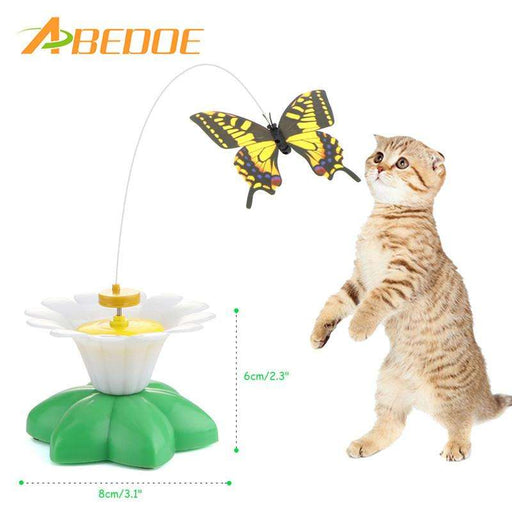 Electric Rotating Colorful Butterfly Funny Pet Seat Scratch Toy - Naughty Bubbles