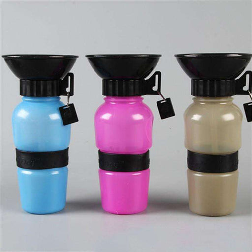 1 pc Auto Dog Water Pet Bottle Outdoor Water Feeder - Naughty Bubbles