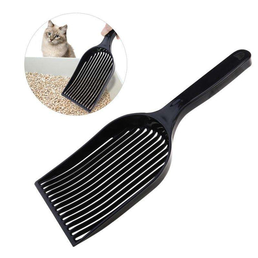 Long Handle Durable Plastic Pet Litter Scoop - Naughty Bubbles