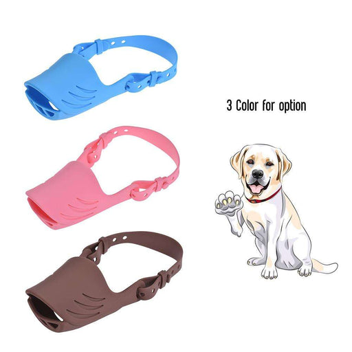 Anti Bite Dog Muzzle Silicone Pig Mouth Shape with Adjustable Strap - Naughty Bubbles