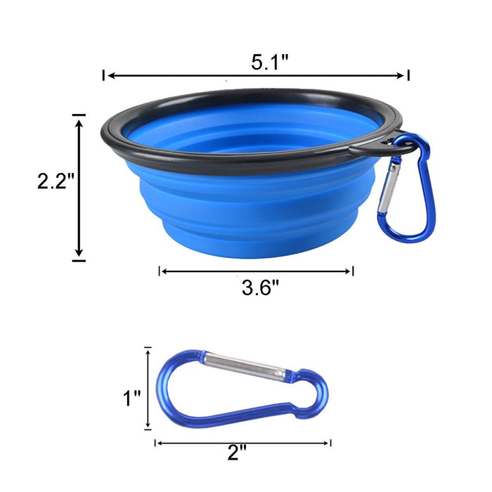 Collapsible Dog Bowl Food Grade Silicone BPA Free