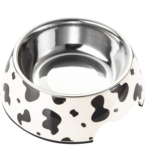 Black Dots Stainless Steel Pet Cat Dog Bowl Food Water Feeder - Naughty Bubbles