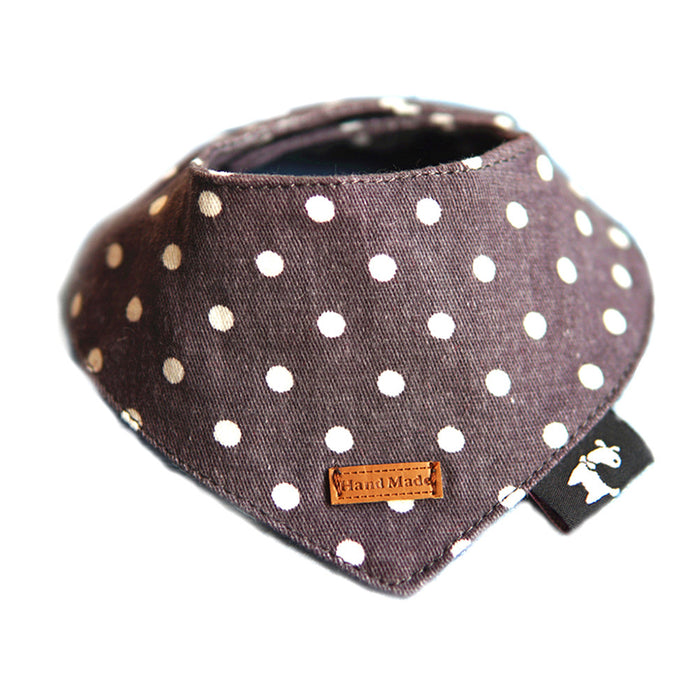 Pet Dog Bandana Peach-shaped Scarfs - Naughty Bubbles