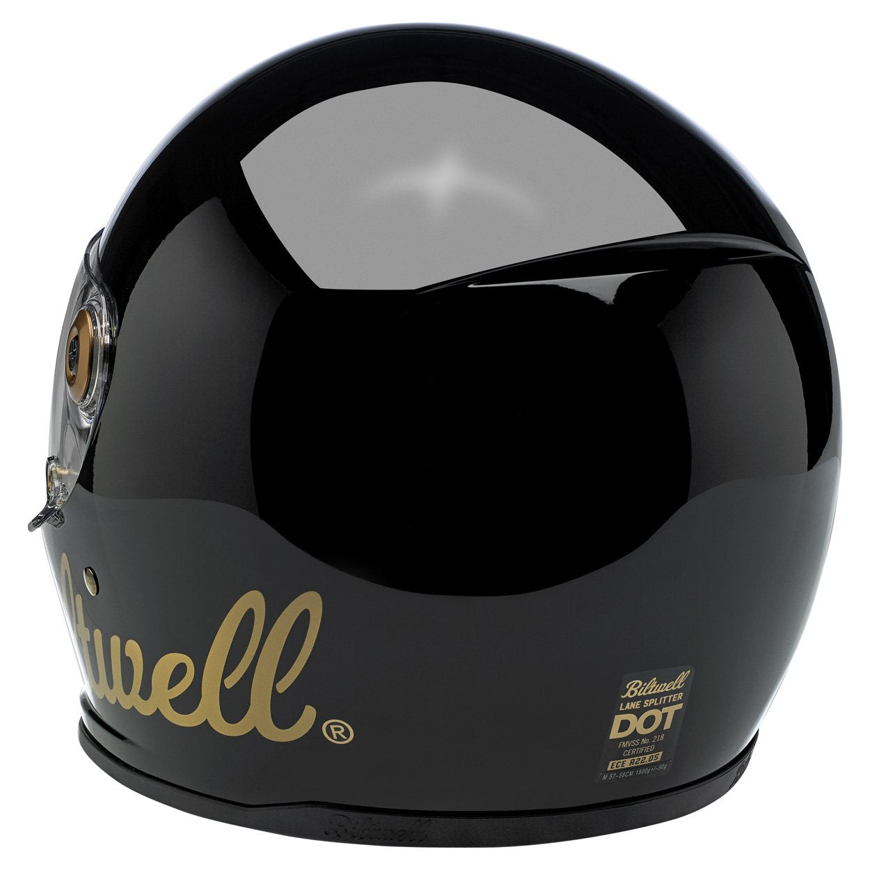 Biltwell Lane Splitter Helmet Factory Gloss Black Gold