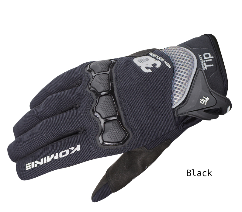 Komine GK-162 3D Protect Mesh Gloves Plus Black