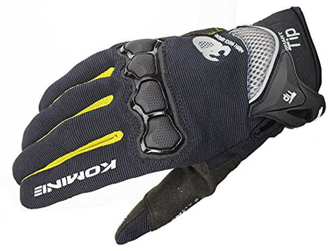 Komine GK-183 Protect M Gloves Brave Black/Red