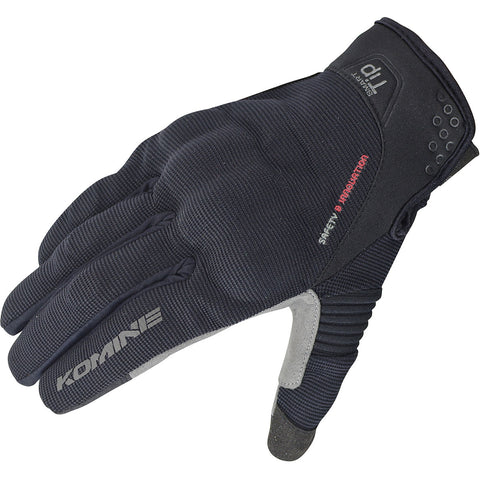 Komine GK-162 3D Protect Mesh Gloves Plus Black Silver