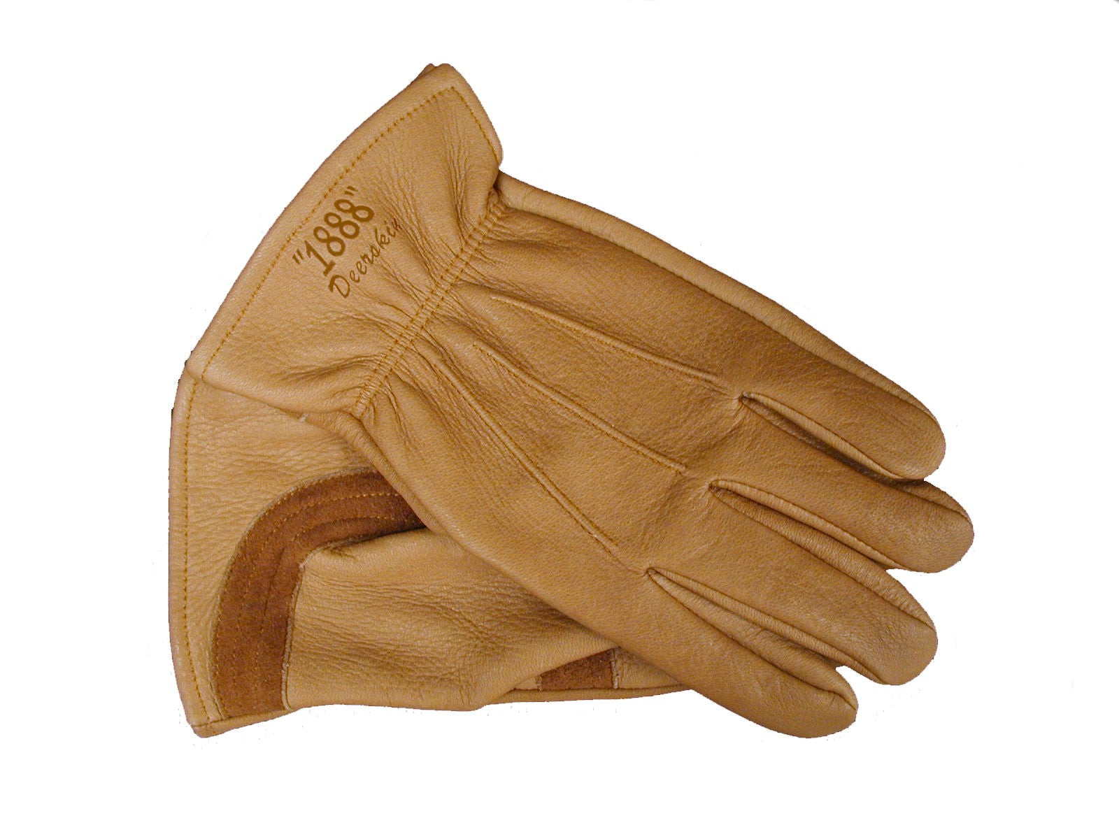 Tuff Mate Premium Grain Deerskin Gloves 1888 Western Brown