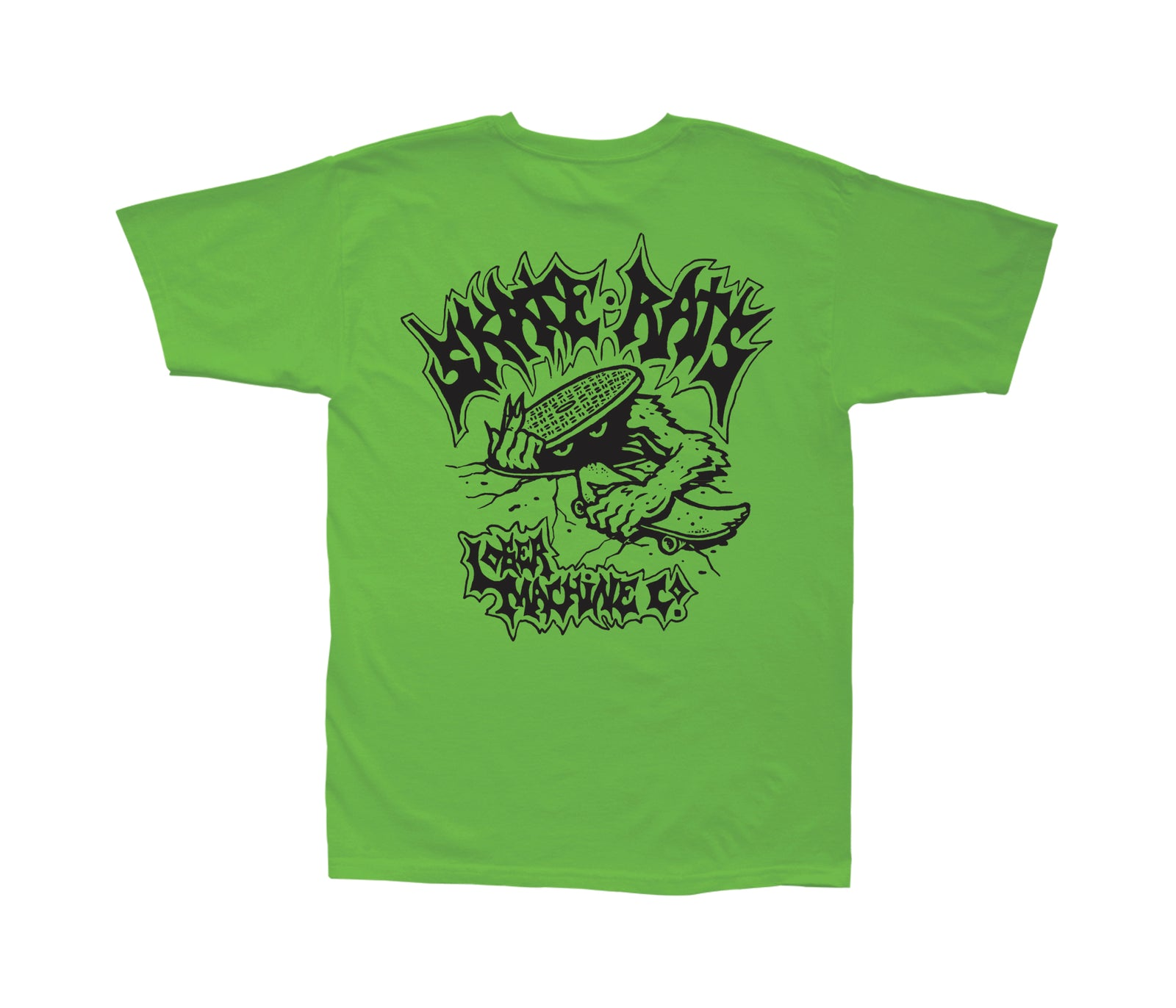Loser Machine Skate Rats T-Shirt Lime