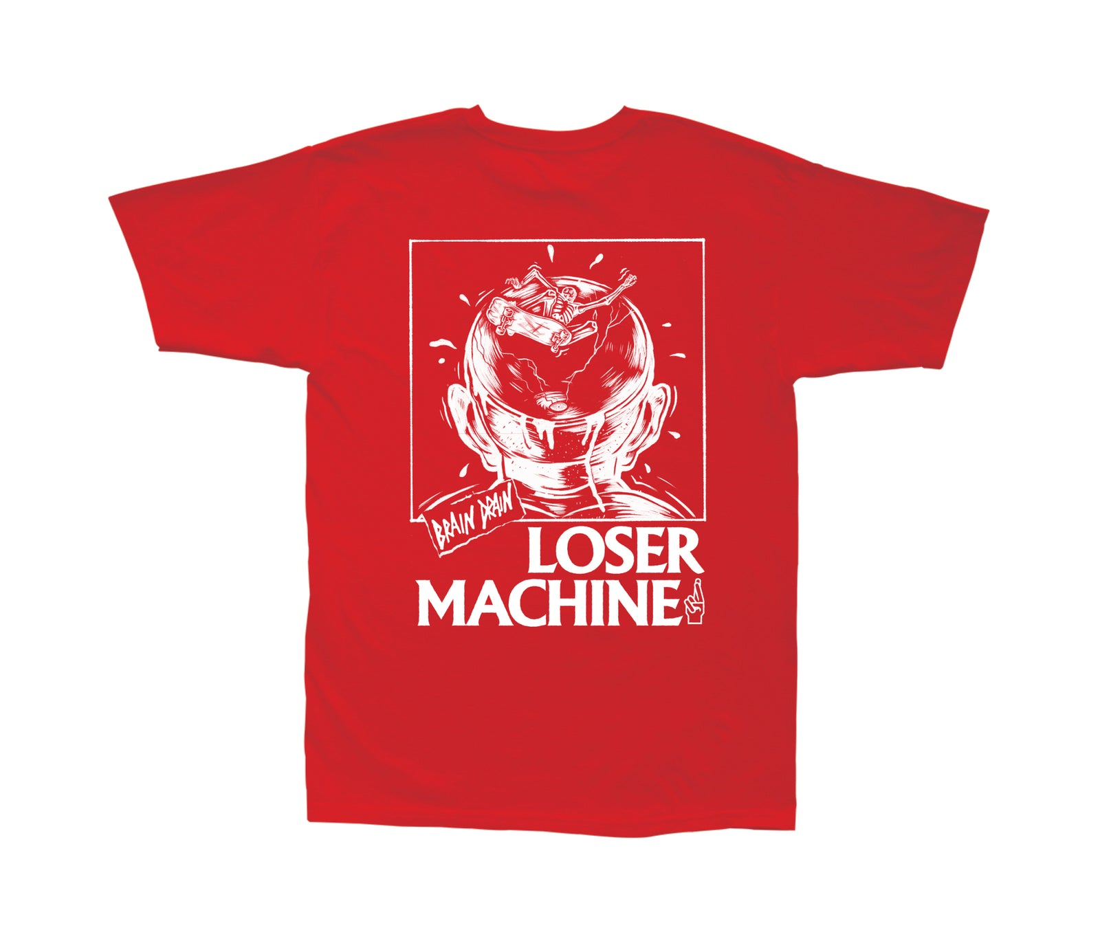 Loser Machine Brain Drain T-Shirt Red