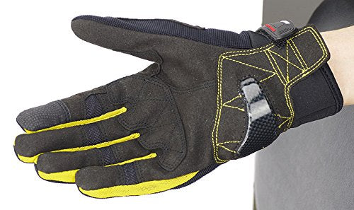 Komine GK-162 3D Protect Mesh Gloves Plus Black/Yellow