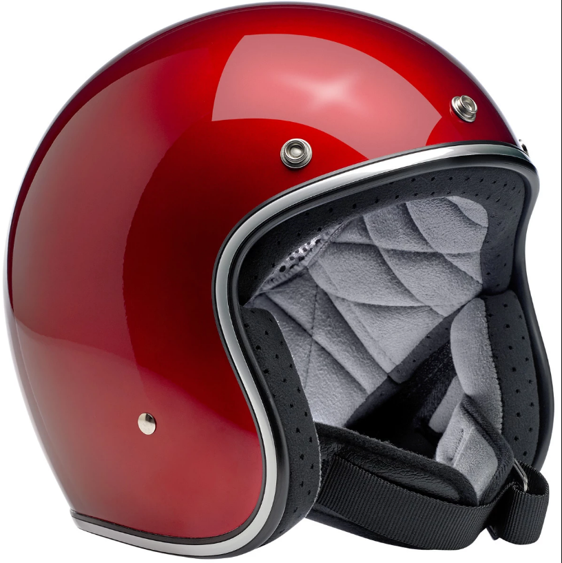 Biltwell Bonanza Helmet Metallic Candy Red