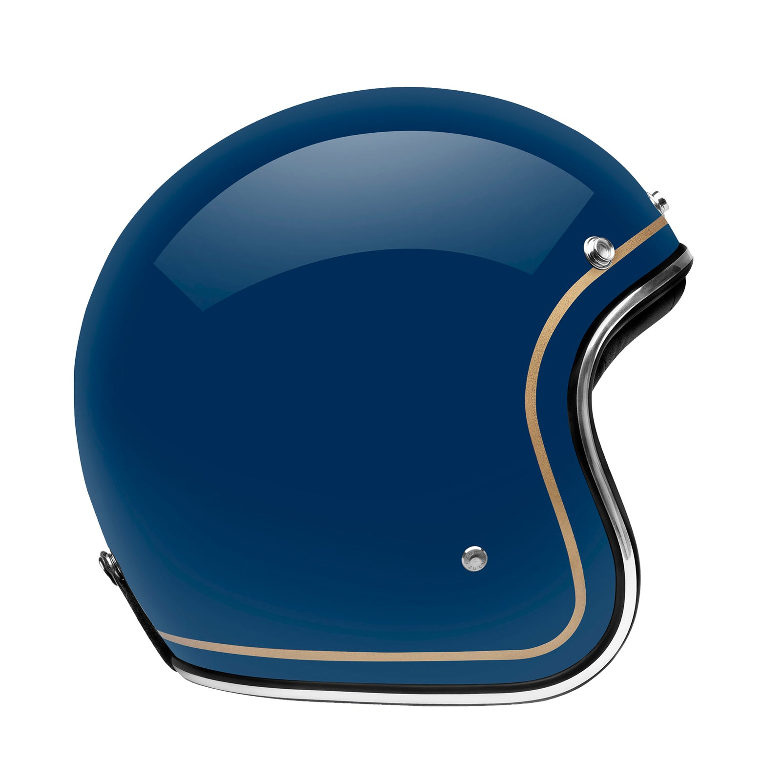 Zulu Azura Blue Gold Stripe Chrome Bluetooth