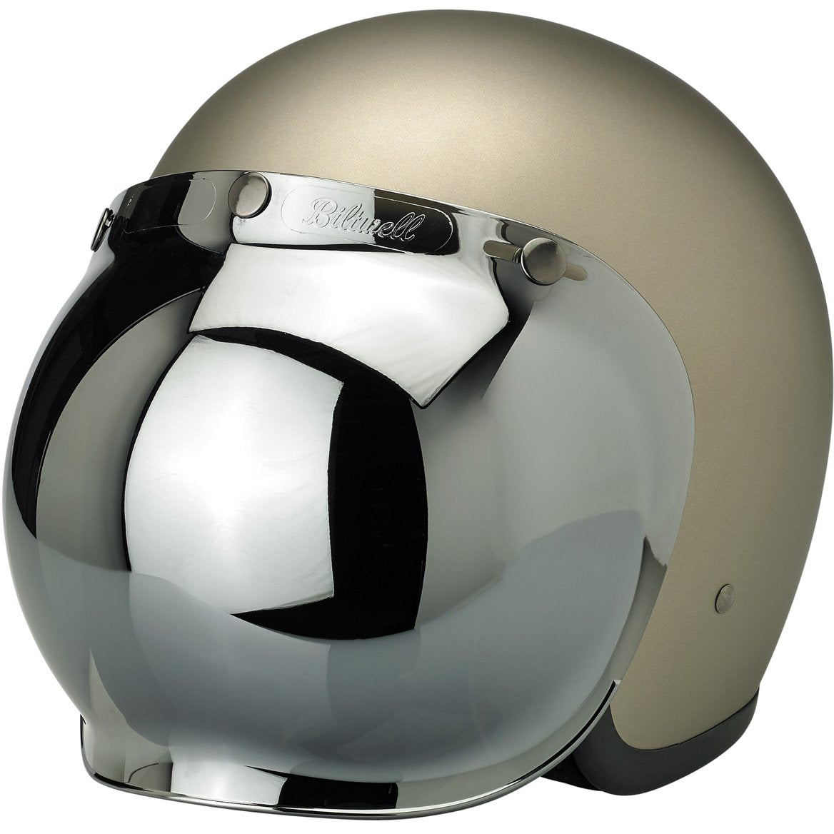 Biltwell Bubble Shield Anti-Fog Chrome Mirror