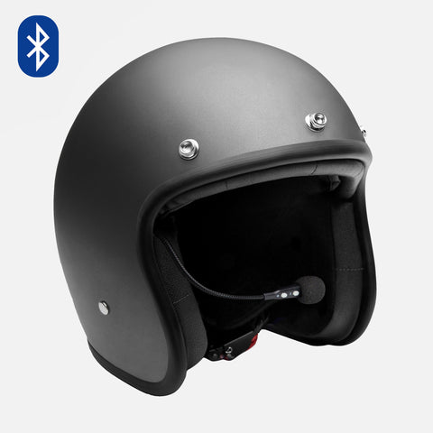 Biltwell Lane Splitter Helmet Gloss Black Factory