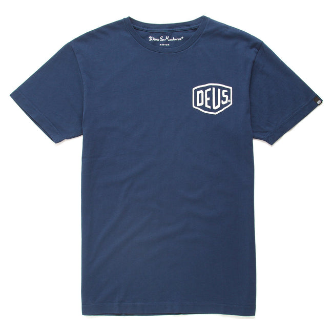 Deus Milano Address T-Shirt - Navy
