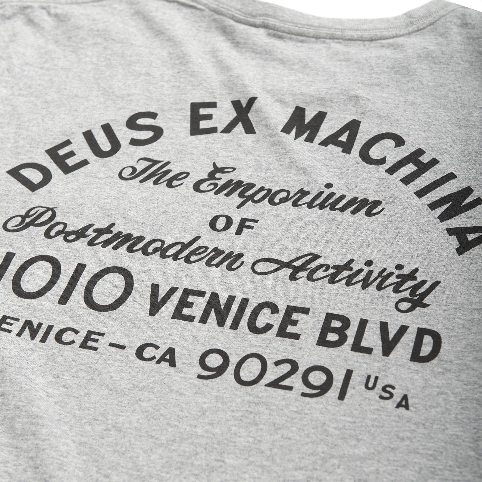 Deus Venice Address Chest Pocket T-Shirt Grey Marle