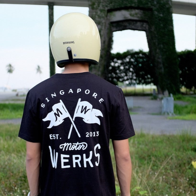 Motorwerks Flags Tee Black