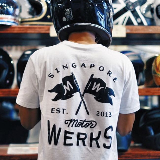 Motorwerks Flags Tee White