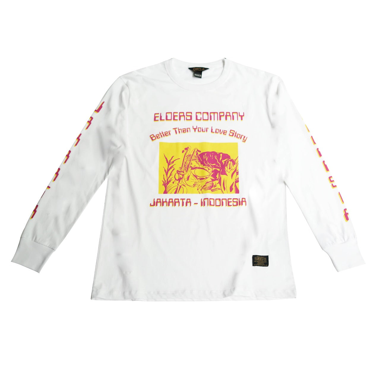 Elders Love Story Long Sleeve T-Shirt White