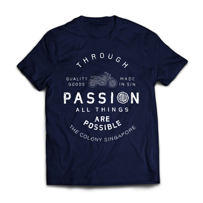 Motorwerks Passion Tee Navy Blue
