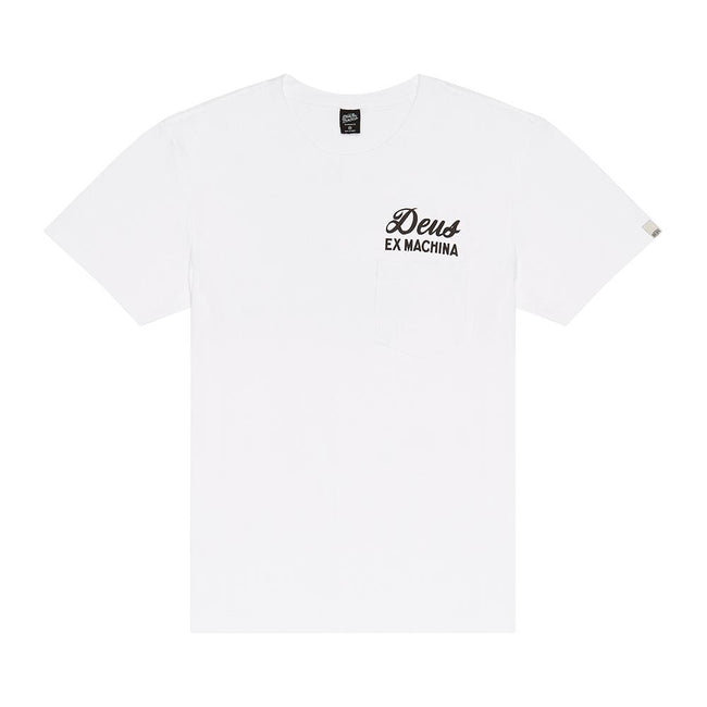 Deus Tokyo Address Chest Pocket T-Shirt- White