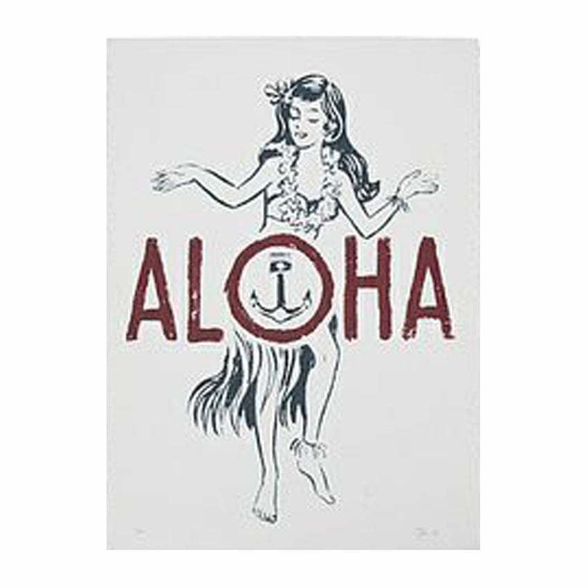 Iron and Resin Aloha Poster